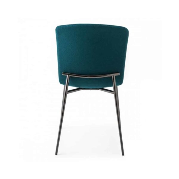 Love side chair Calligaris available from DeFrae Contract Furniture Gold Frame Green Velvet Quilted Back