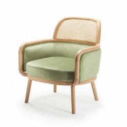 Luc lounge armchair at DeFrae Contract furniture with cane back