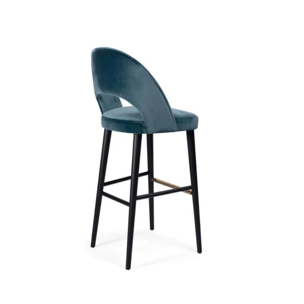 Luxe Bar Stool Artu SG DeFrae Contract Furniture Back View