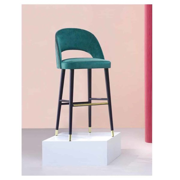 Luxe Bar Stool Artu SG Extra Deluxe DeFrae Contract Furniture Back View