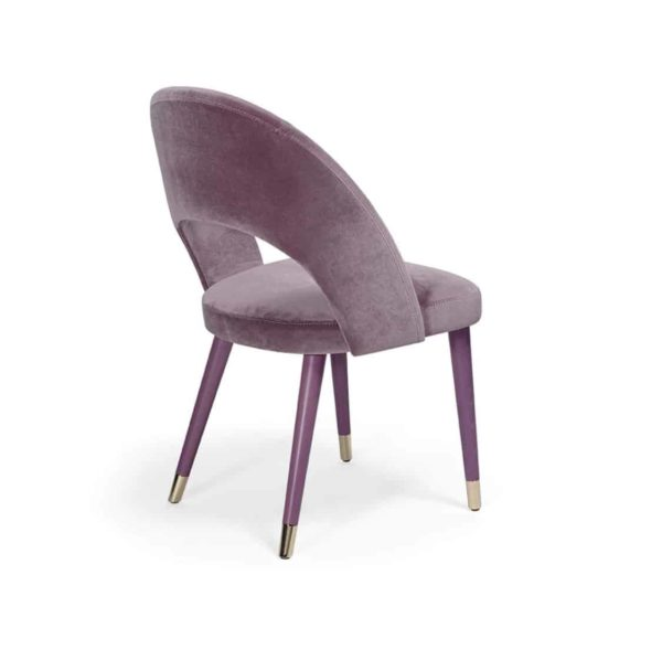 Luxe Side Chair Artu S Deluxe DeFrae Contract Furniture Back View