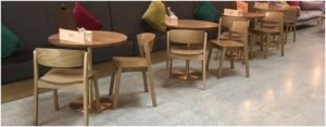 Lynx wood side chairs and bespoke seating at Picturehouse Cinema Ashfrod, Kent