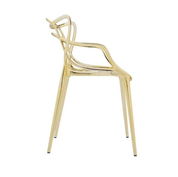 Masters chair Metallic Gold by Kartell available from DeFrae Contract Furniture Outside furniture Gold