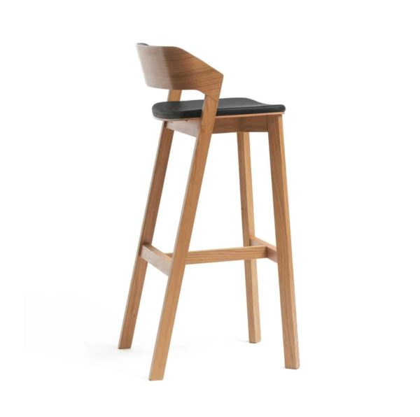 Merano Bar Stool DeFrae Contract Furniture Upholstered Seat