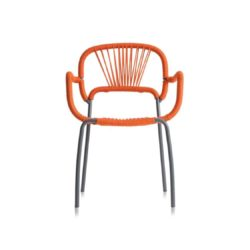 Moyo A Int armchair with weave and rope back DeFrae Contract Furniture Orange