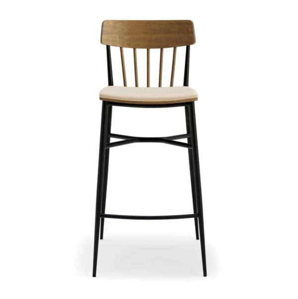 Naika Bar Stool Spindle Back DeFrae Contract Furniture