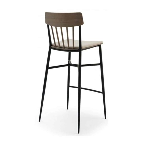 Naika Bar Stool Spindle Back DeFrae Contract Furniture Back View