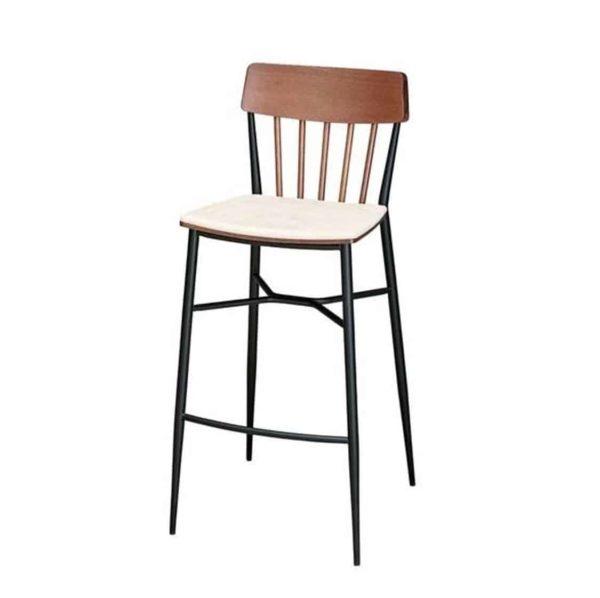 Naika Bar Stool Spindle Back DeFrae Contract Furniture Front