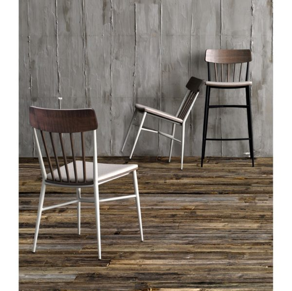Naika Bar Stool and Side Chairs Spindle Back DeFrae Contract Furniture