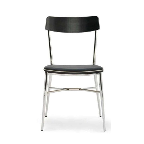Naika Side Chair DeFrae Contract Furniture Black
