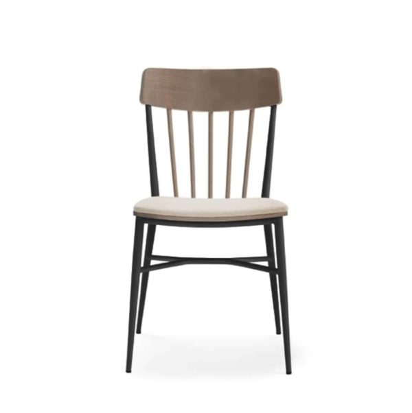 Naika Spindle Back Chair Spindle Back DeFrae Contract Furniture Front