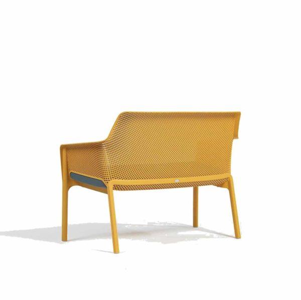 Net Bench DeFrae Contract Furniture Mustard Back