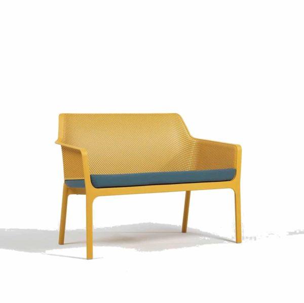 Net Bench DeFrae Contract Furniture Mustard Front