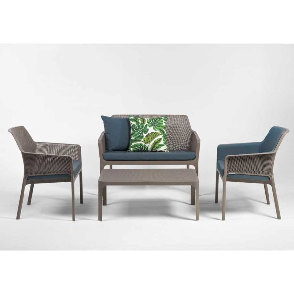 Net Bench DeFrae Contract Furniture Turtle Dove and Armchairs in Situ
