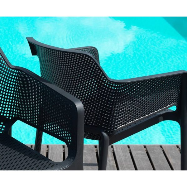 Nett Armchair Nardi DeFrae Contract Furniture Black In Situ Close Up