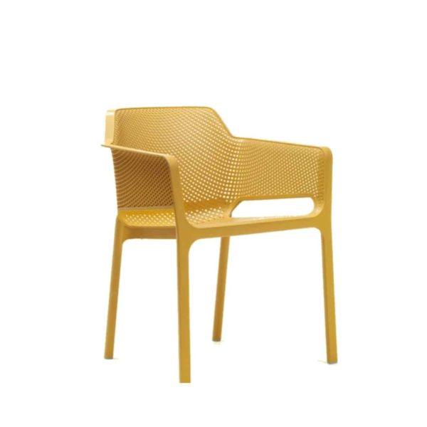 Nett Armchair Nardi DeFrae Contract Furniture Mustard Yellow