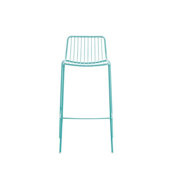 Nolita Bar stool 3658 Pedrali at DeFrae Cyan Blue