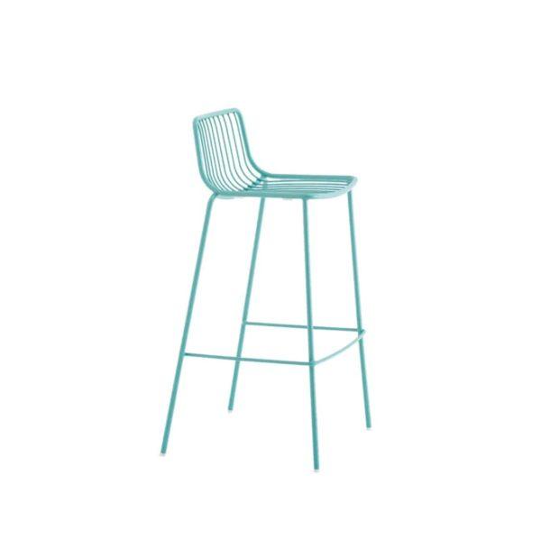 Nolita Bar stool 3658 Pedrali at DeFrae Cyan Blue Side