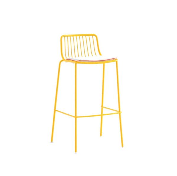 Nolita Bar stool 3658 Pedrali at DeFrae Mustard Yellow with cushion