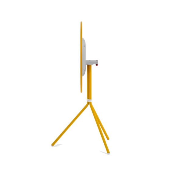Nolita Flip Top Table Base Pedrali at DeFrae Mustard Yellow