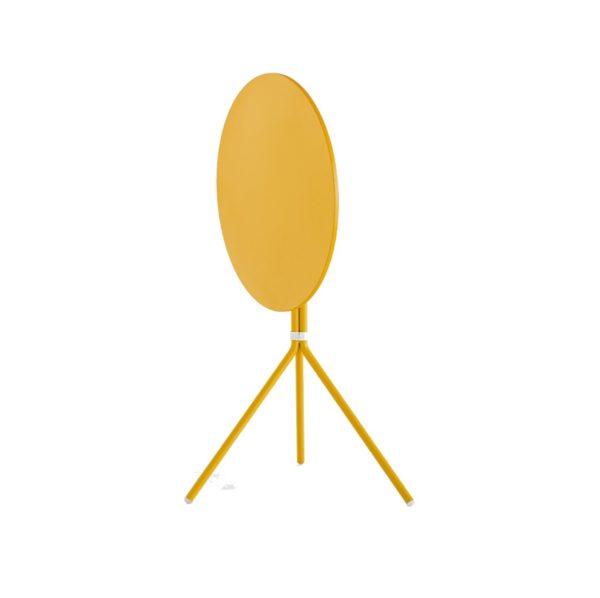 Nolita Flip Top Table Base Pedrali at DeFrae Mustard Yellow Round Top