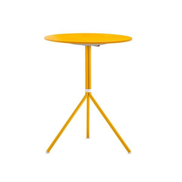 Nolita Flip Top Table Base Pedrali at DeFrae Mustard Yellow Round Top Hero
