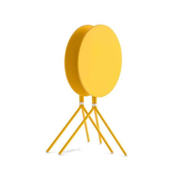Nolita Flip Top Table Base Pedrali at DeFrae Mustard Yellow Stackable