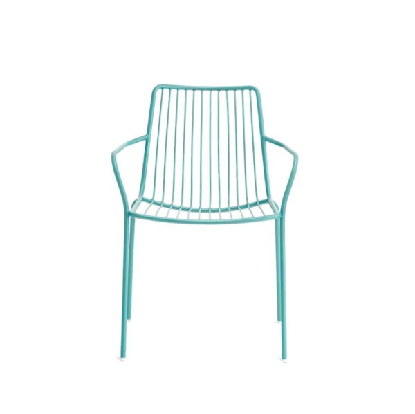 Nolita armchair 3656 Pedrali at DeFrae Contract Furniture Cyan Blue Front
