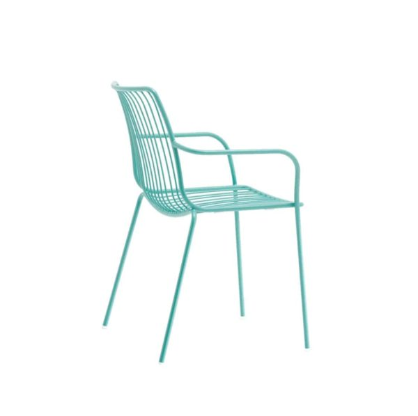 Nolita armchair 3656 Pedrali at DeFrae Contract Furniture Cyan Blue