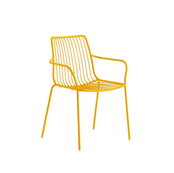 Nolita armchair 3656 Pedrali at DeFrae Contract Furniture Mustard Yellow