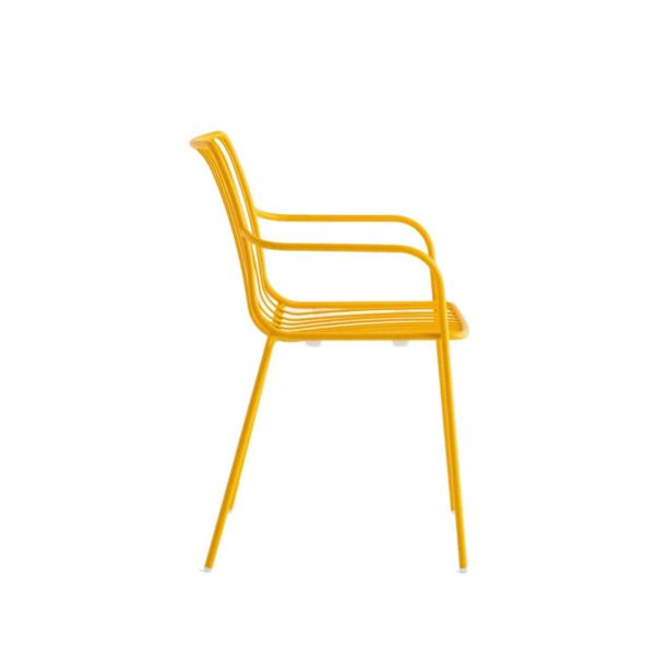 Nolita armchair 3656 Pedrali at DeFrae Contract Furniture Mustard Yellow Side On