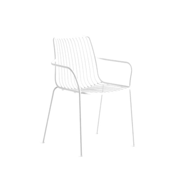Nolita armchair 3656 Pedrali at DeFrae Contract Furniture White