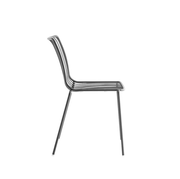 Nolita side chair 3651 Pedrali at DeFrae Contract Furniture Black Side On View