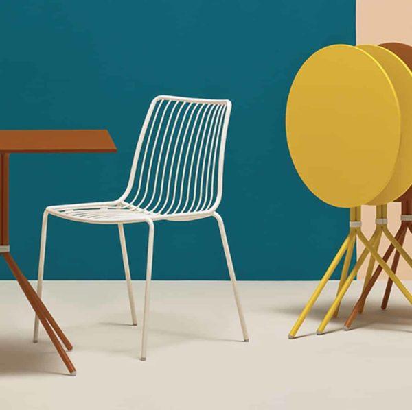 Nolita side chair 3651 Pedrali at DeFrae Contract Furniture White in situ
