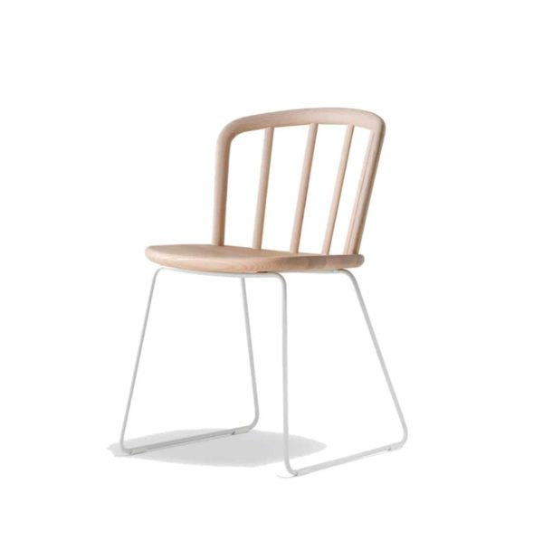 Nym Armchair 2850 Pedrali at DeFrae Contract Furniture Natural Sled Base