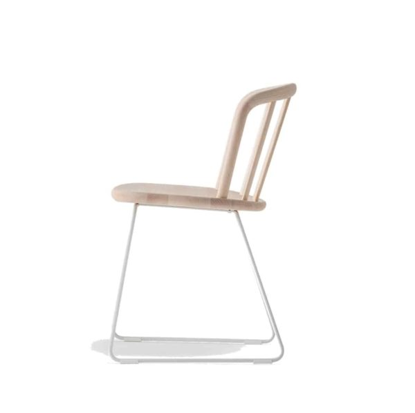Nym Armchair 2850 Pedrali at DeFrae Contract Furniture Natural Sled Base Side View