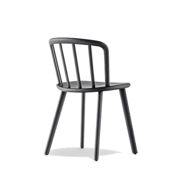 Nym Side Chair 2830 Pedrali at DeFrae Contract Furniture Black Back