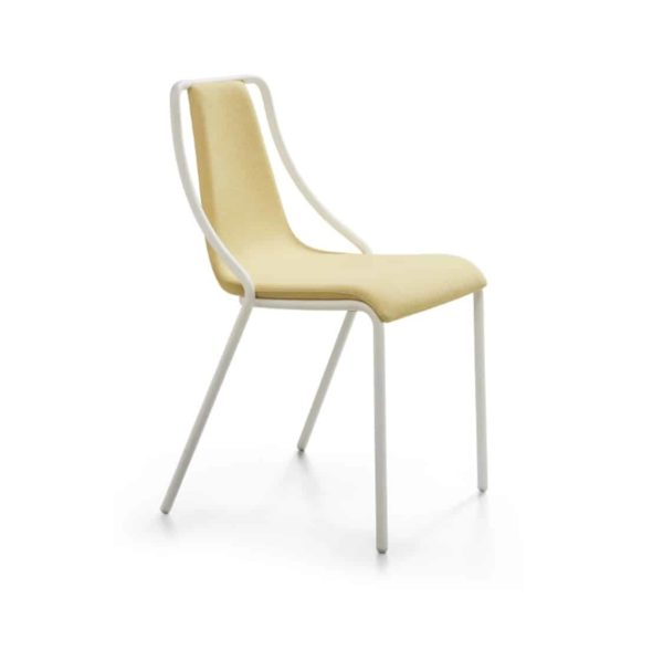 Ola Stackable Side Chair Midj available from DeFrae Contract Furniture Leather Upholstered Seat