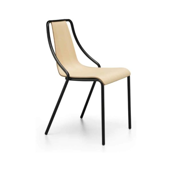 Ola Stackable Side Chair Midj available from DeFrae Contract Furniture Wooden Frame
