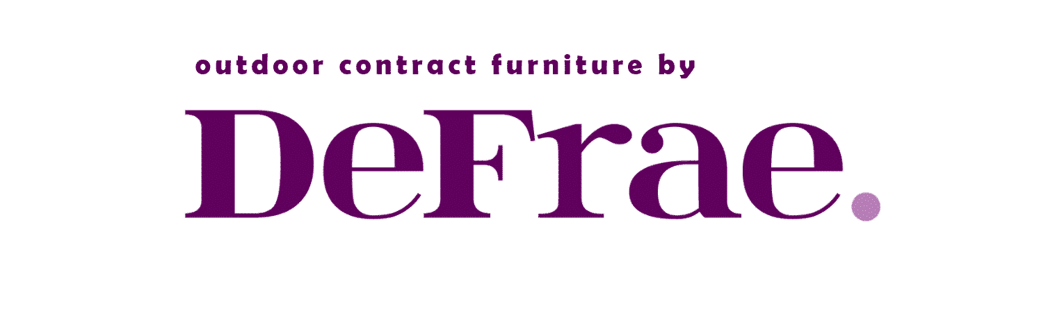 Outdoor contract furniture by DeFrae London Essex UK