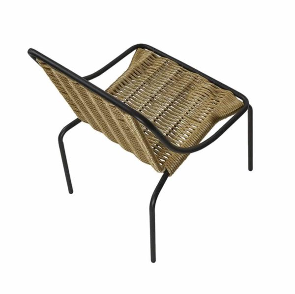 Oyster Woven Side Chair DeFrae Contract Furniture Natural Above View