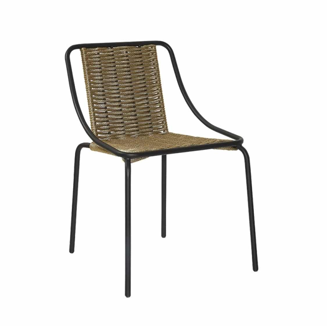 Oyster Woven Side Chair DeFrae Contract Furniture Natural
