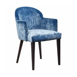 Paris Armchair ContractIn Available From DeFrae Contract Furniture Blue Velvet Wood Frame
