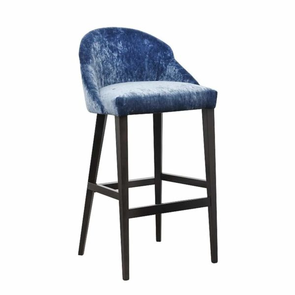 Paris S Bar Stool Contractin Available From DeFrae Contract Furniture Blue Velvet Wood Frame