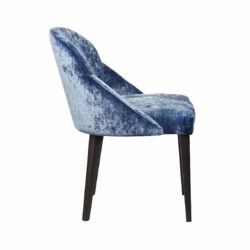Paris Side Chair ContractIn Available From DeFrae Contract Furniture Blue Velvet Wood Frame