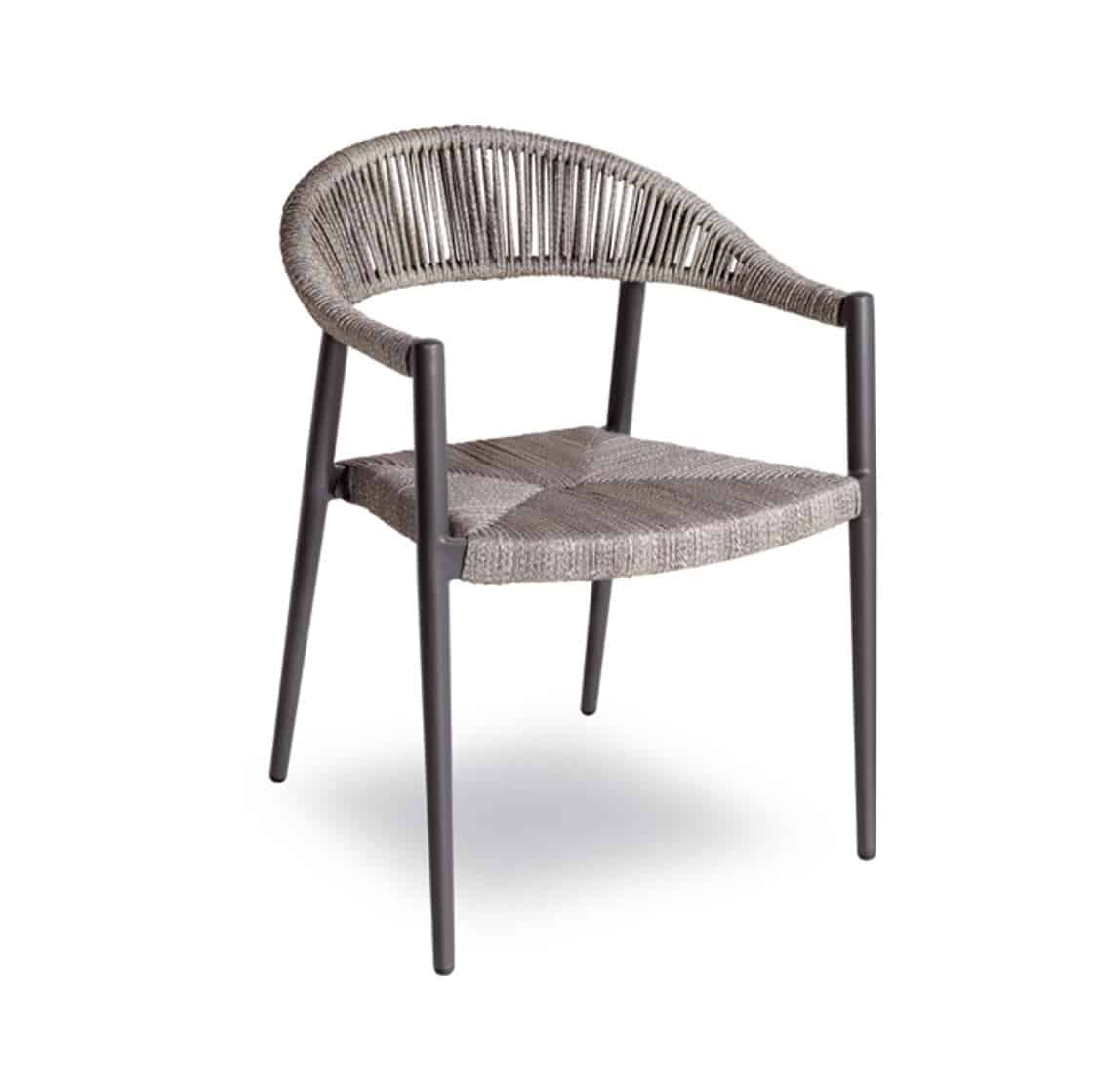 Praque woven outdoor chairs available from DeFrae Contract Furniture