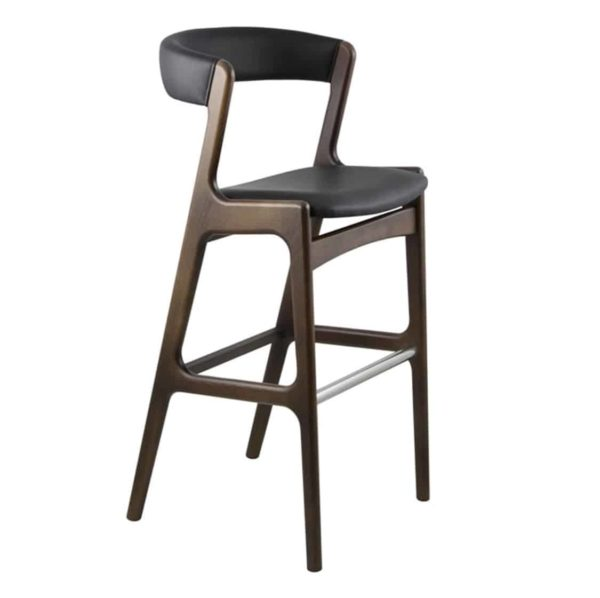 Randers Bar Stool Curved Back DeFrae Contract Furniture