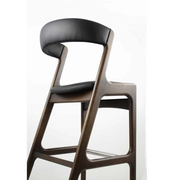 Randers Bar Stool Curved Back DeFrae Contract Furniture Back