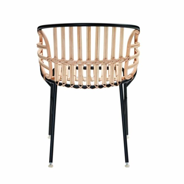 Raphia Armchair Horm Rattan Rope Weave DeFrae Contract Furniture Back View