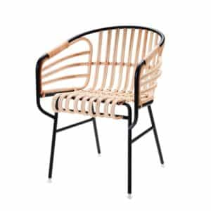 Raphia Armchair Horm Rattan Rope Weave DeFrae Contract Furniture Side View